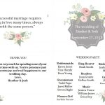 Free Wedding Program Templates You Can Customize   Free Printable Wedding Program Templates