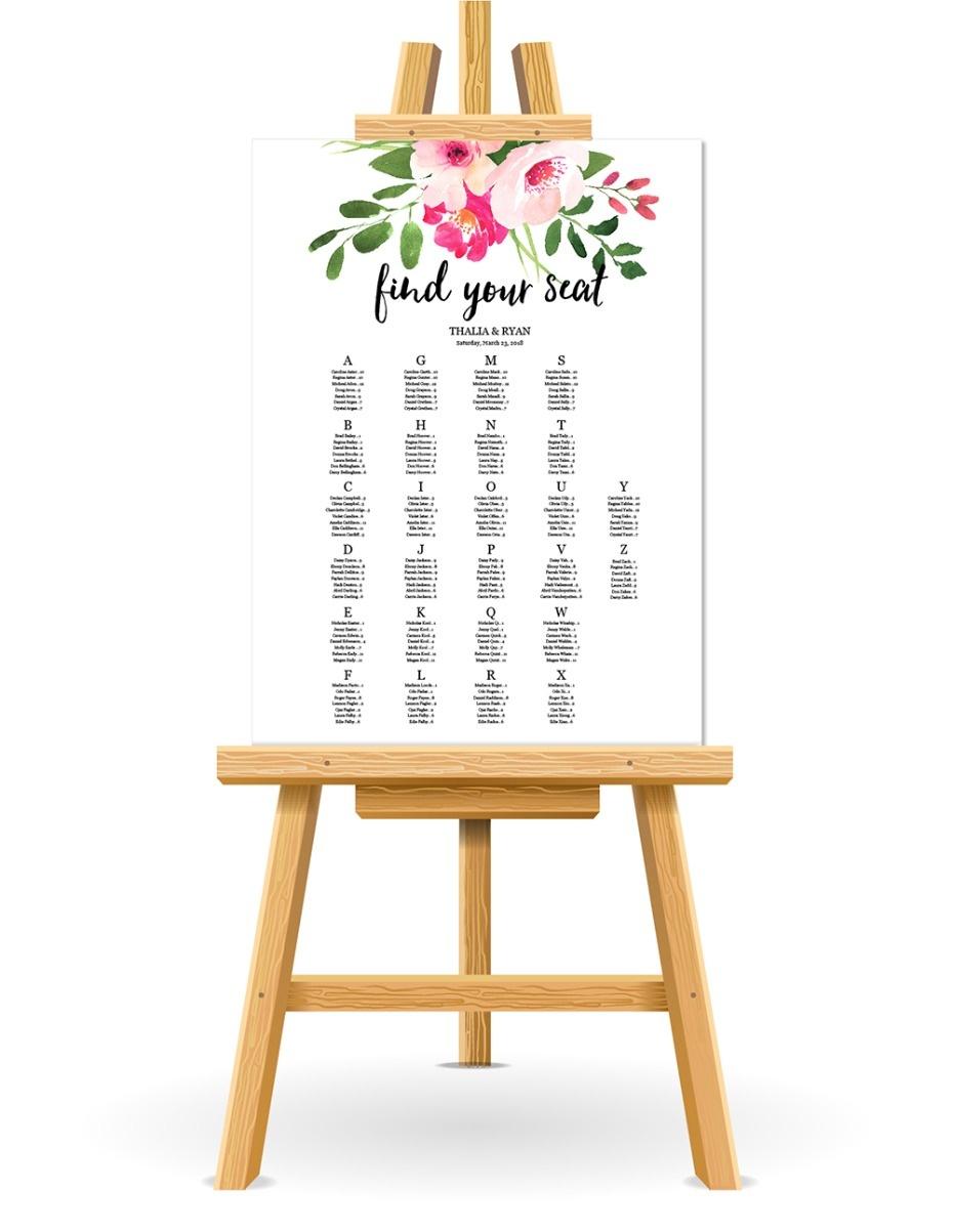 Free Wedding Seating Chart Printable - Free Printable Wedding Seating Chart Template