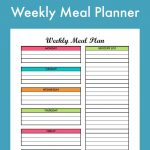 Free Weekly Meal Planning Printable With Grocery List | Free   Create A Menu Free Printable