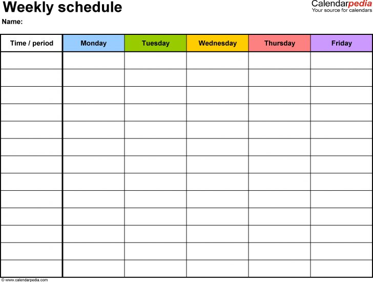 Free Printable Schedule
