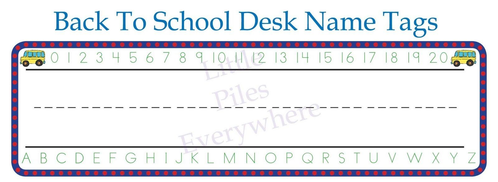 Free Welcome Back To School Bulletin Boards | Cute+Welcome+Back+To+ - Free Printable Name Tags For School Desks