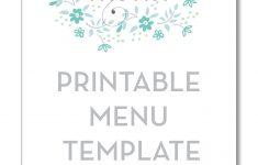 Freebie Friday: Printable Menu | Party Time! | Printable Menu, Menu – Free Printable Wedding Menu Card Templates