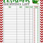 Freebie Printable Christmas Shopping List | Best Of Pinterest   Free Printable Christmas List