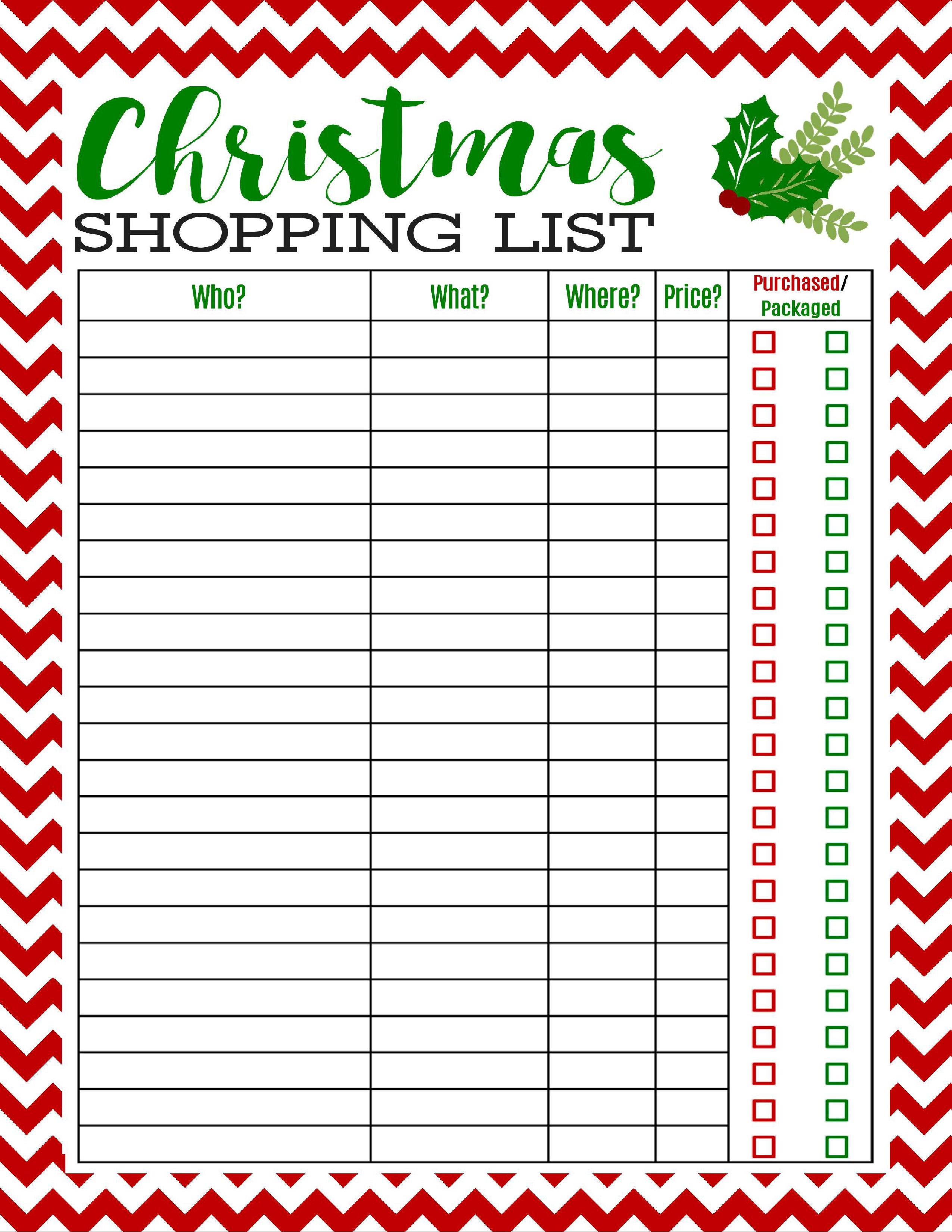 Freebie Printable Christmas Shopping List | Best Of Pinterest - Free Printable Christmas Wish List