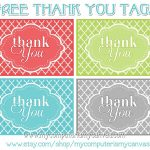 Freebie} Printable Thank You Tags | Printables | Thank You Tag   Free Printable Thank You Tags For Birthdays