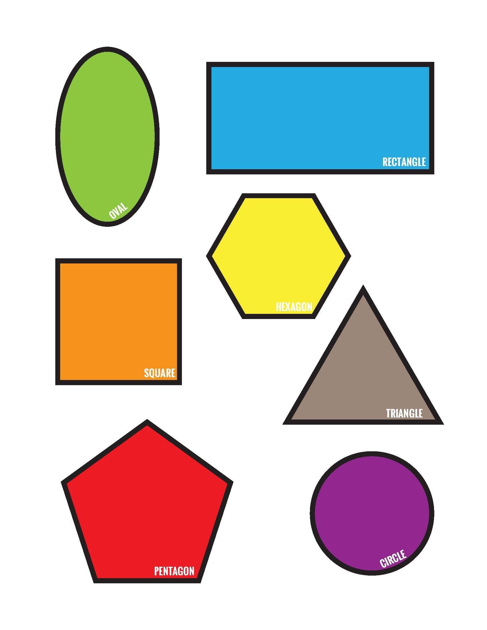 Freebies: Colorful Shapes Matching File Folder Printable Game (Free - Free Printable File Folder Games For Preschool