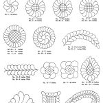 Free+Hand+Quilting+Patterns |  For Quilter » Blog Archive   Free Printable Pantograph Quilting Patterns