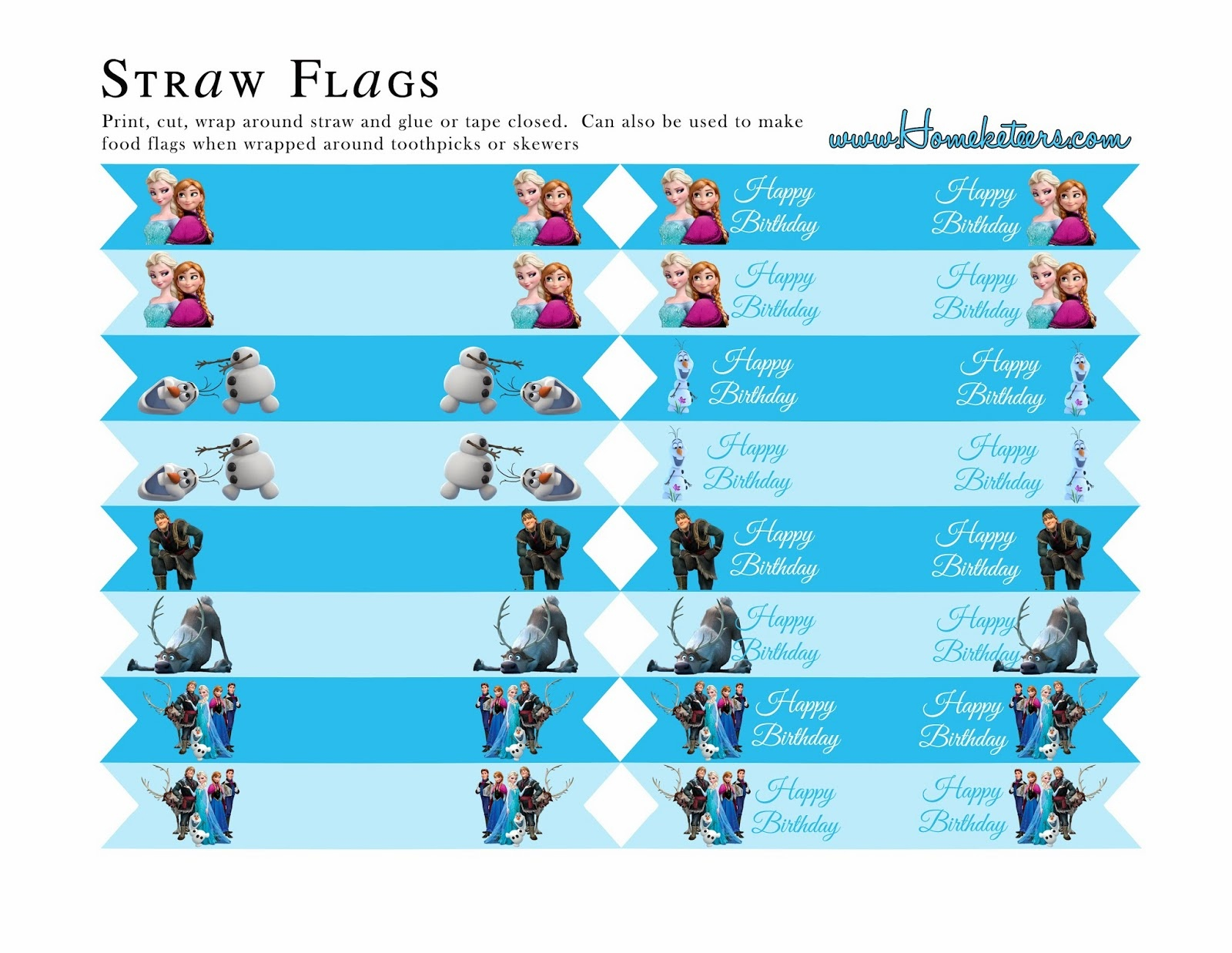Frozen Party: Free Printables. - Oh My Fiesta! In English - Frozen Happy Birthday Banner Free Printable