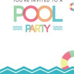 Fun Afternoon   Free Printable Summer Party Invitation Template   Free Printable Pool Party Birthday Invitations