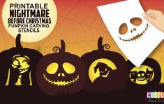 Fun And Free Printable Themed Pumpkin Carving Stencils — All For The – Halloween Pumpkin Carving Stencils Free Printable