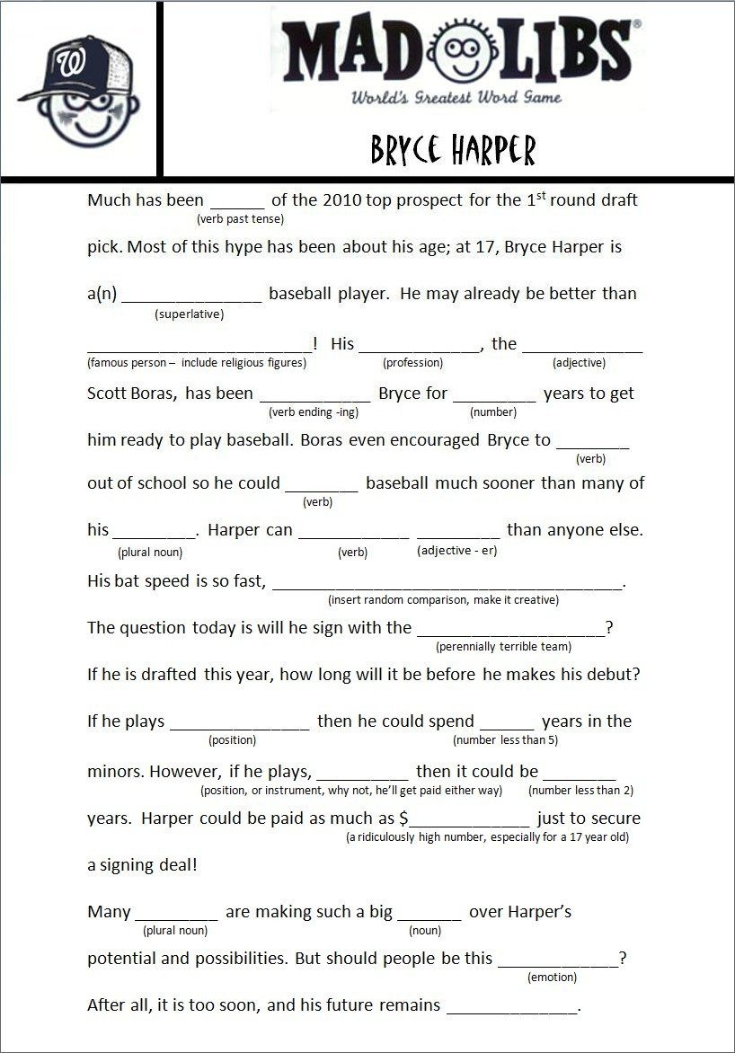 Fun Facts About Winter Mad Libs. Mickeys Summer Vacation Mad Lib - Free Printable Mad Libs For Tweens
