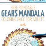 Gears Mandala Coloring Page   Free Printable – Moms And Crafters   Free Printable Gears