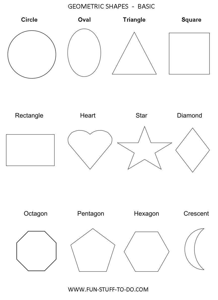 Geometric Shapes Worksheets | Free To Print - Free Printable Shapes Worksheets