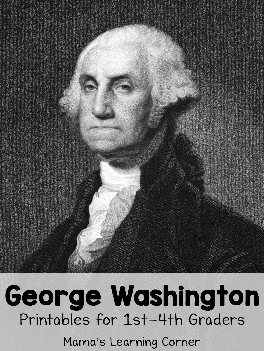 George Washington Worksheets - Mamas Learning Corner - Free Printable George Washington Worksheets
