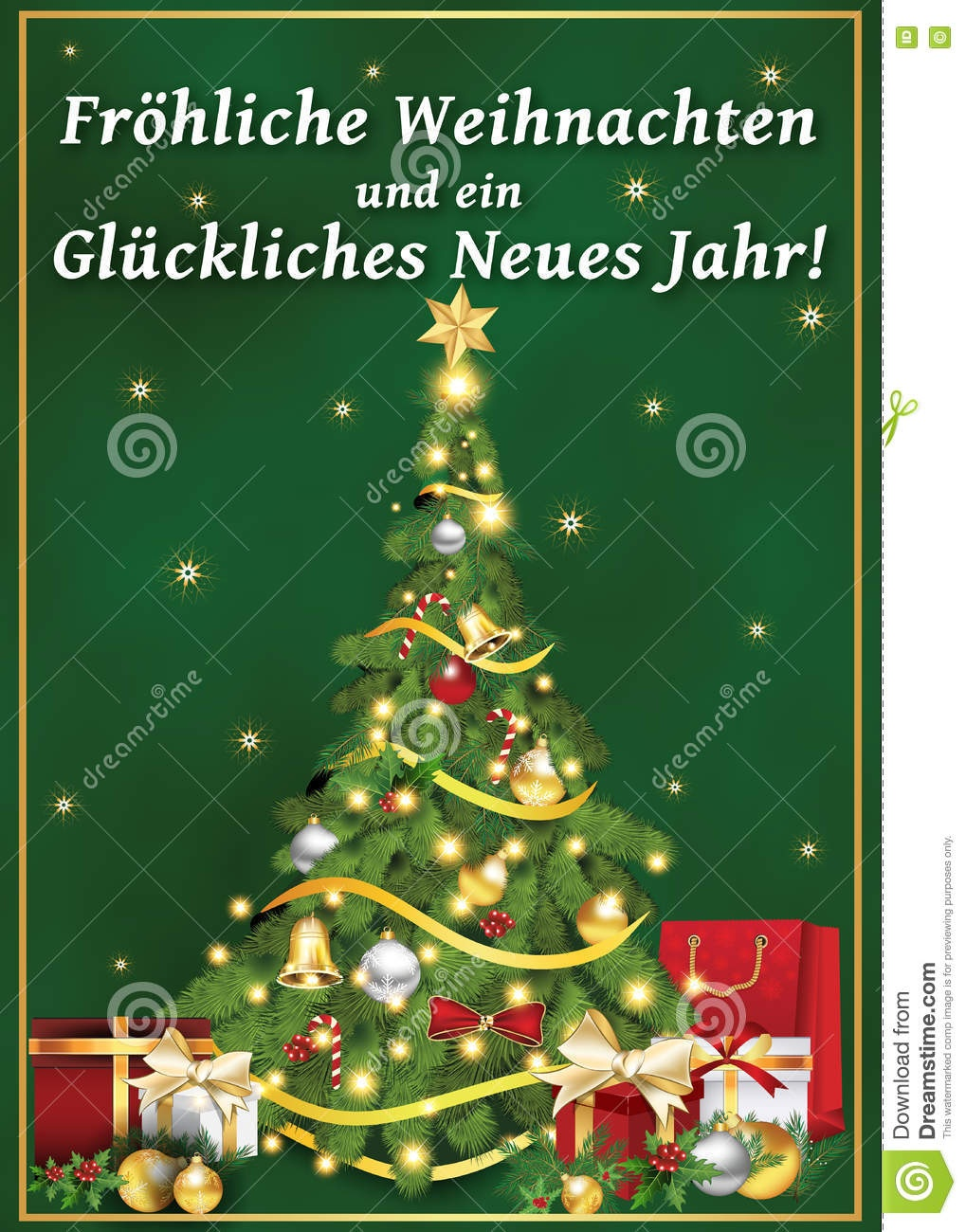 German Corporate Greeting Card For Winter Holiday. Stock - Free Printable German Christmas Cards