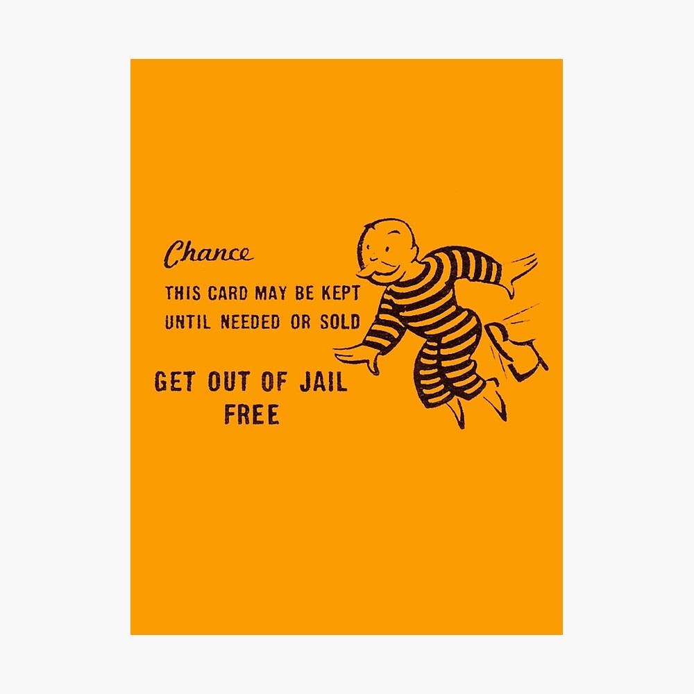 """Get Out Of Jail Free"""" Photographic Printdiabolical 
