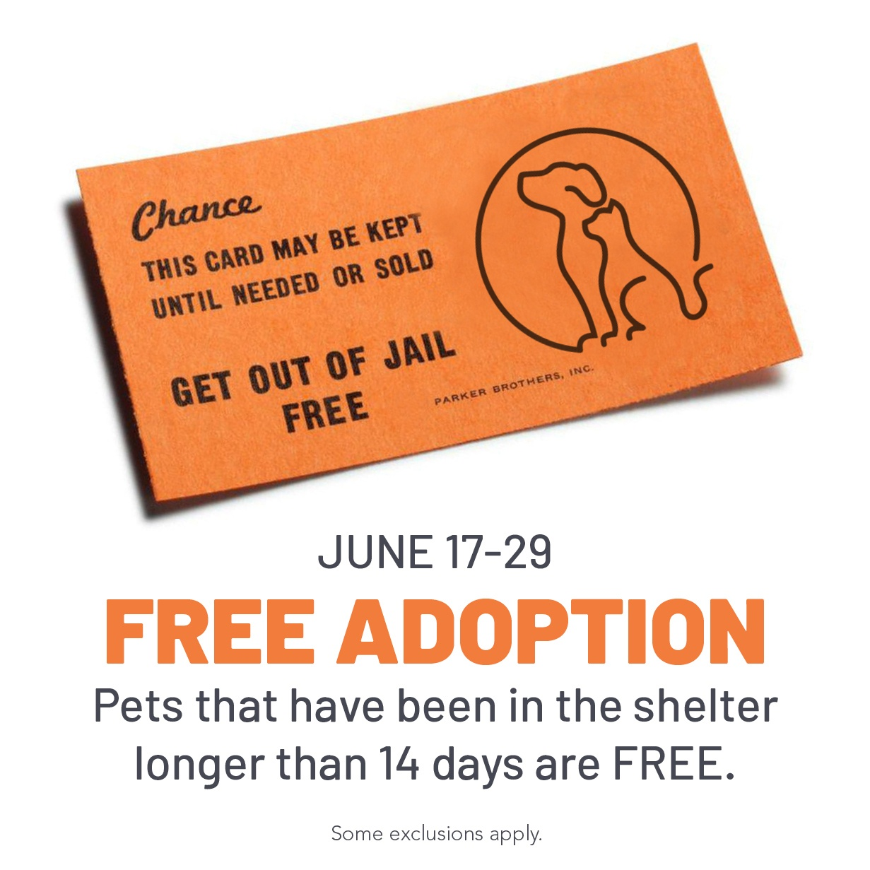 Get Out Of Jail Freeplaying Petnopoly At Animal Services - City - Get Out Of Jail Free Card Printable