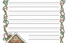 Gingerbread Printable Border Paper With And Without Lines | A To Z – Free Printable Writing Paper With Borders
