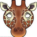 Giraffe Mask | Masks Be Anyone Or Anything Free Printable   Giraffe Mask Template Printable Free