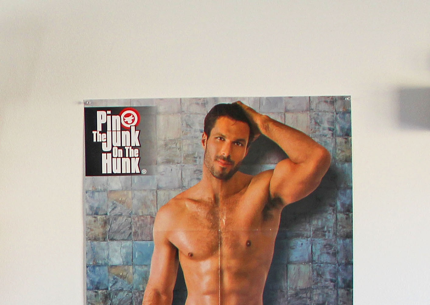 Girl's Night Out Bachelorette Bash - Pin The Junk On The Hunk Free - Pin The Junk On The Hunk Free Printable