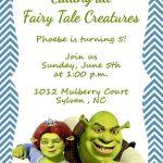 Girls Or Boys Shrek Printable Birthday Party Invitation | Etsy   Free Printable Shrek Birthday Invitations