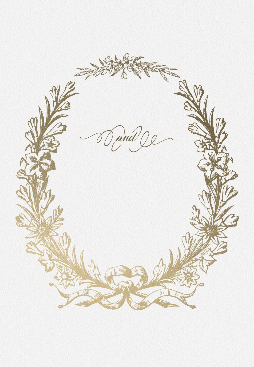 Golden Wreath - Wedding Invitation Template (Free) | Greetings - Free Printable Engagement Invitations