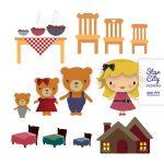 Goldilocks And The Three Bears Clipart Group With 59+ Items   Free Printable Goldilocks And The Three Bears Story
