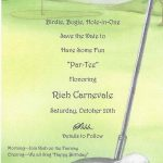 Golf Portion Of Rich's 60Th Birthday Party Invitationglad   Free Printable Golf Stationary