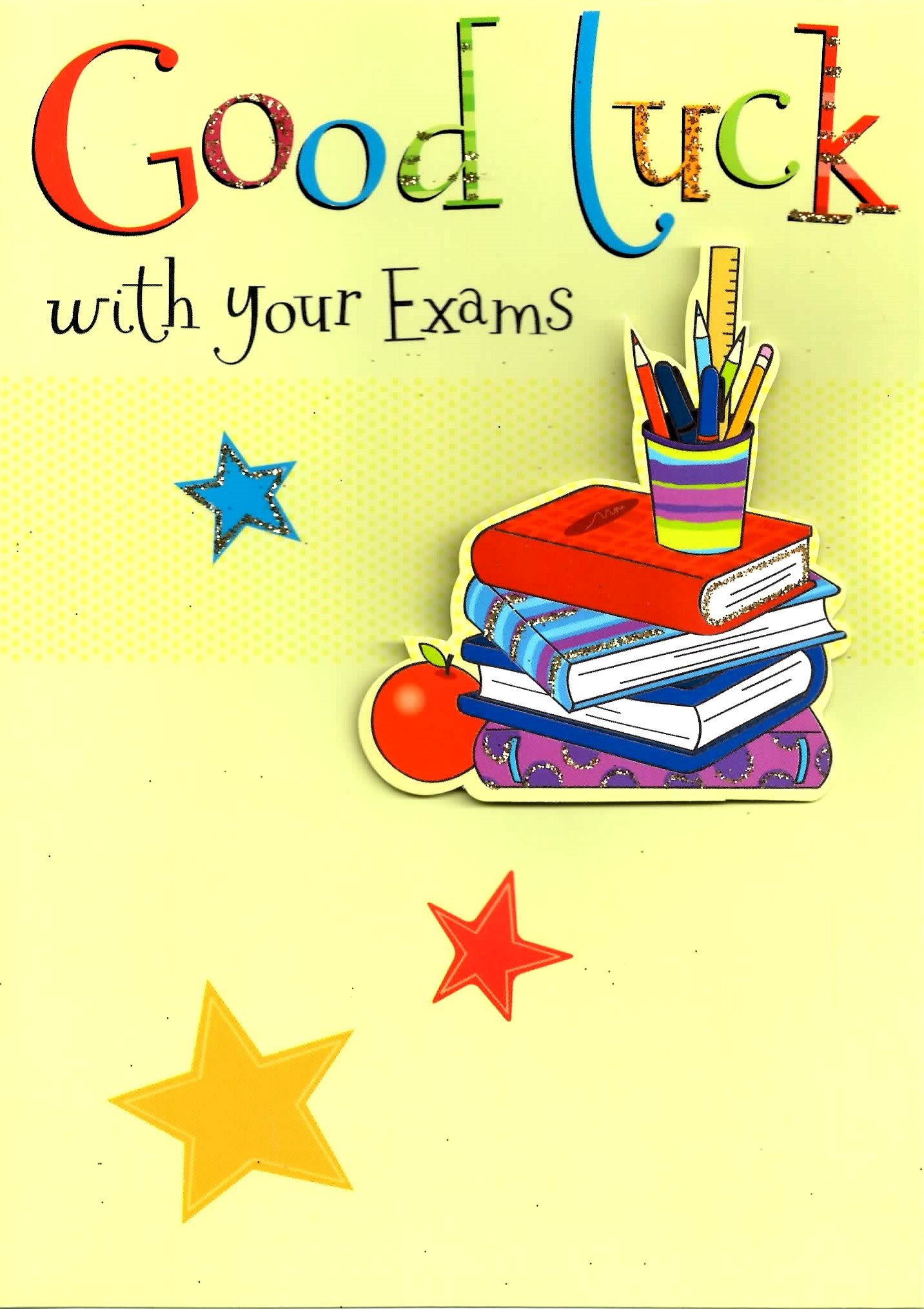Good Luck With Your Exams Greeting Card   Cards - Free Printable Good Luck Cards