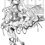 Gothic Fairy Coloring Pages Printable   Free Printable Coloring Pages For Adults Dark Fairies