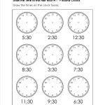 Grade Level Worksheets | Maths | 2Nd Grade Math Worksheets, First   Free Printable Telling Time Worksheets For 1St Grade
