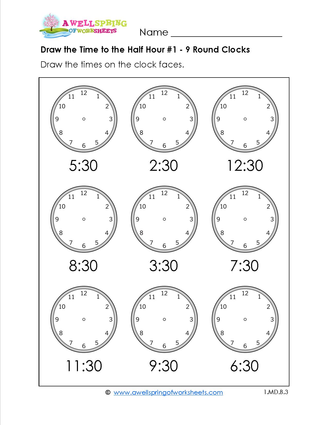 Grade Level Worksheets | Maths | 2Nd Grade Math Worksheets, First - Free Printable Telling Time Worksheets For 1St Grade