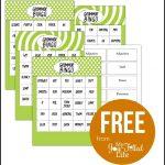 Grammar Bingo   Free Printable | Must Follow Faith & Family Bloggers   Free Printable Parts Of Speech Bingo