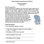 Great Big Elephants Third Grade Reading Worksheets | Board | Reading   Third Grade Reading Worksheets Free Printable