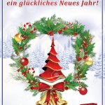 Greeting Card For The New Year With Text In German Language:.. Stock   Free Printable German Christmas Cards