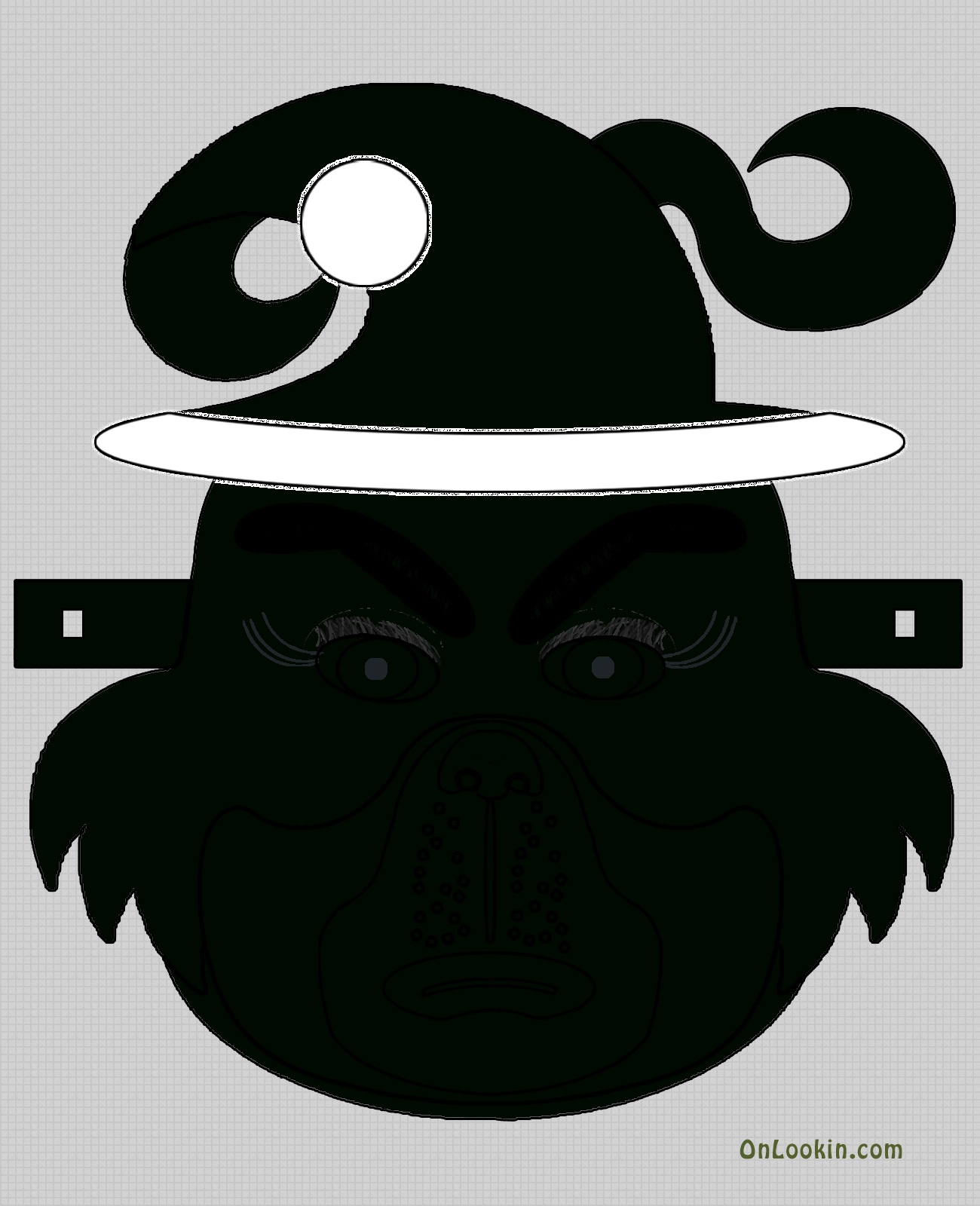 Grinch Santa Face Mask Cut Out A4 | Kids Stuff | Grinch Mask, Santa - Free Printable Face Masks