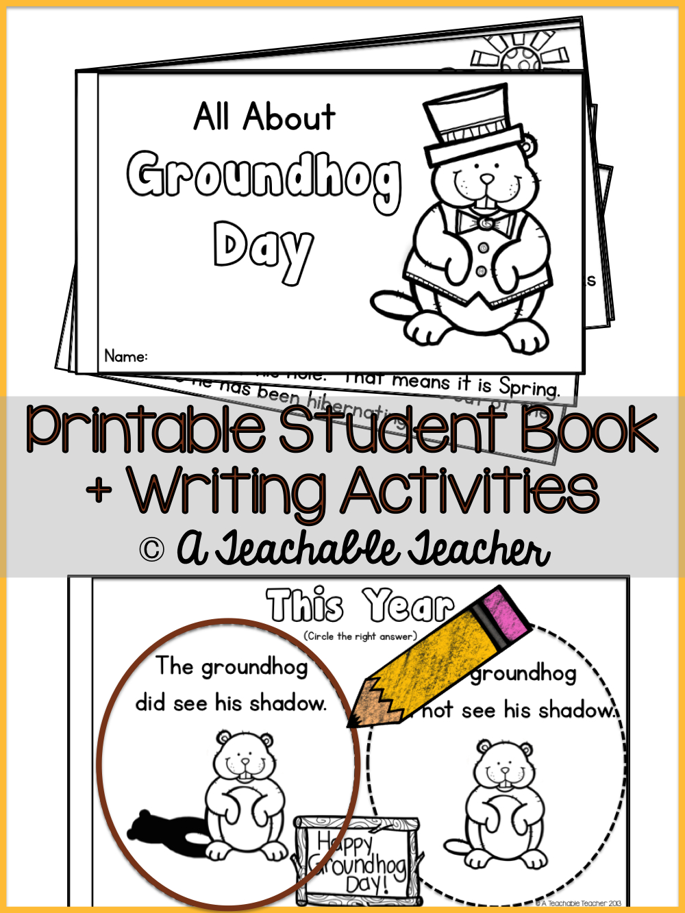 Groundhog Day | Groundhog Day Activities | Best Of Winter: New Year - Free Printable Groundhog Day Booklet