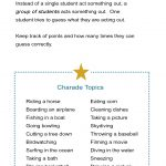 Group Charades Ideas: How To Play Charades With A Large Group   All Esl   Free Printable Recovery Games