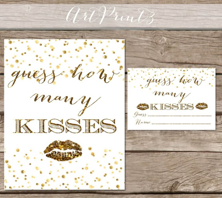 How Many Kisses Game Free Printable