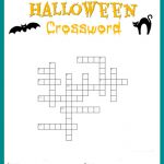 Halloween Crossword Puzzle Free Printable   Free Printable Halloween Word Search Puzzles