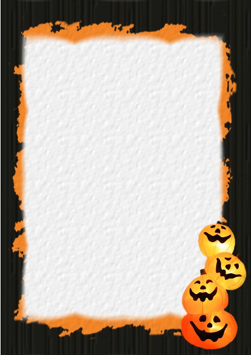 Halloween Stationery | Table Of Contents Or Index Of Stationery - Free Printable Halloween Stationery Borders