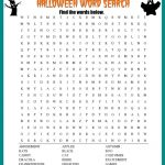 Halloween Word Search Printable Worksheet   Free Printable Halloween Word Search Puzzles