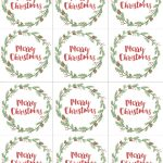 Hand Painted Gift Tags Free Printable | Christmas | Christmas Gift   Free Printable Gift Tags Personalized
