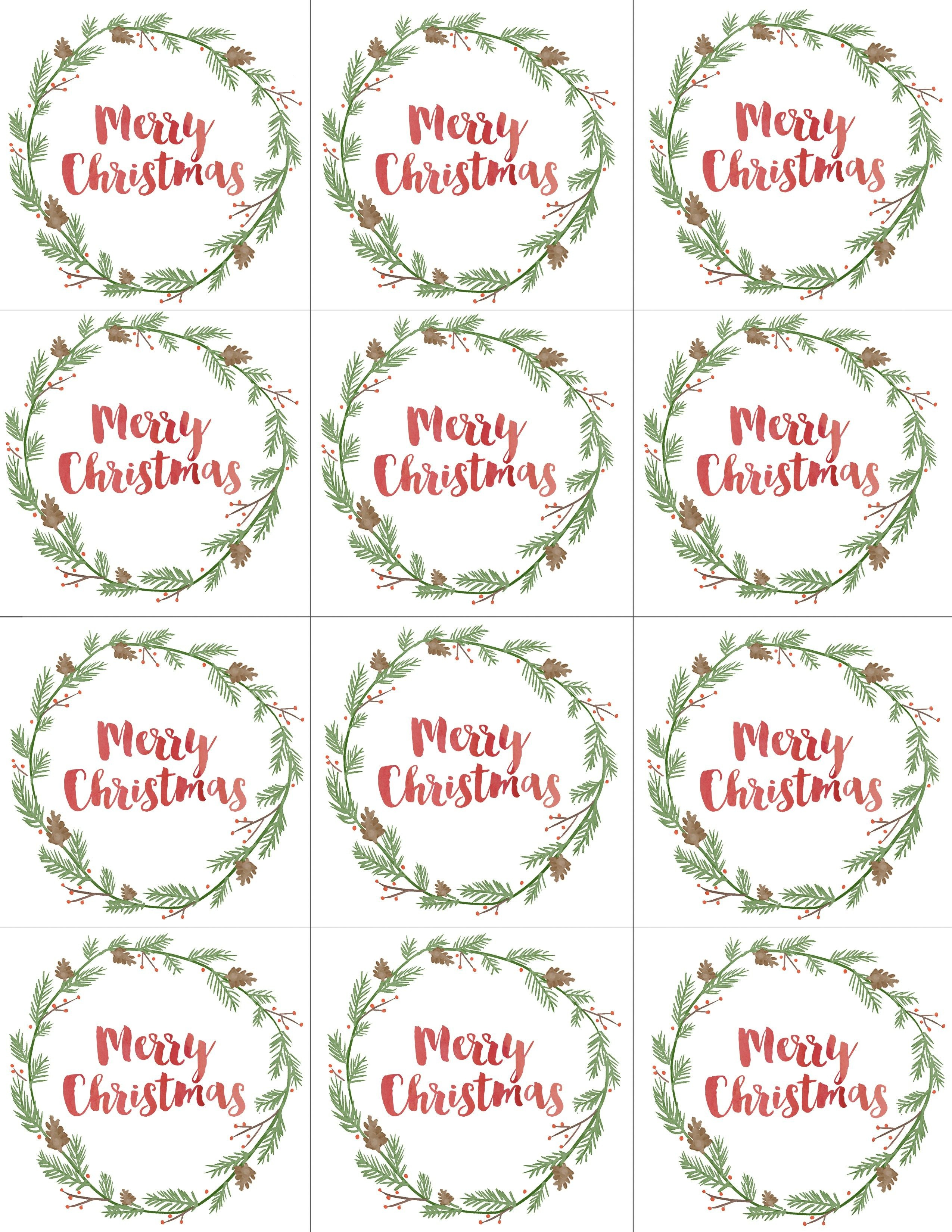 Hand Painted Gift Tags Free Printable | Free Print | Pinterest - Free Printable Christmas Pictures