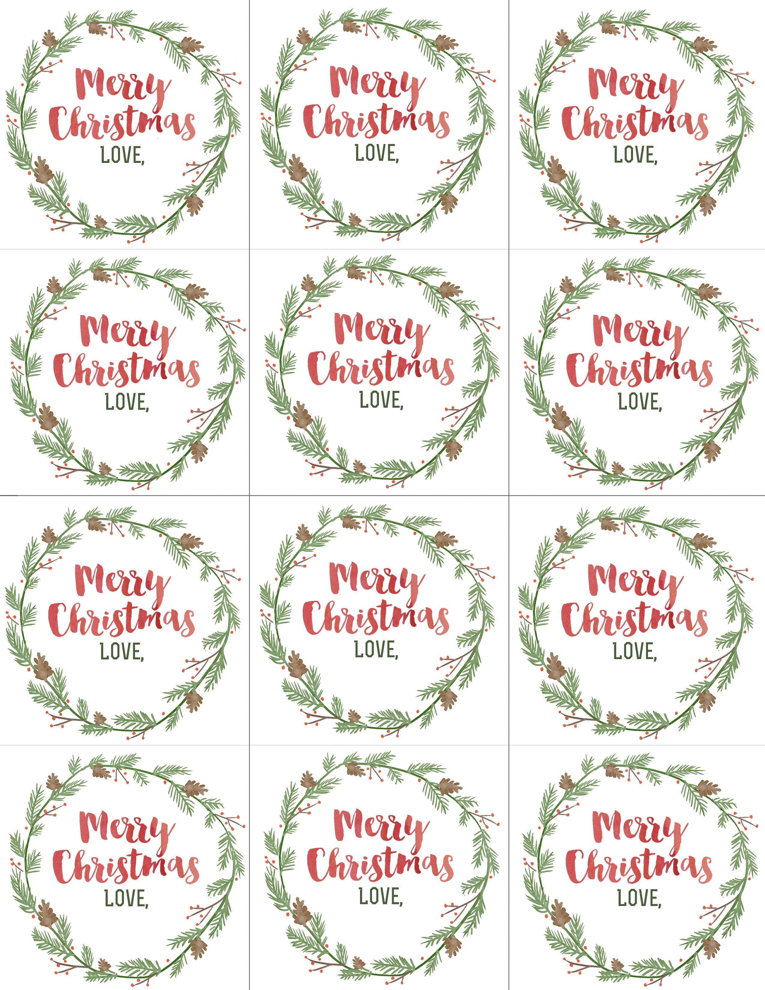 Hand Painted Gift Tags Free Printable | Gift Ideas | Christmas Gift - Free Printable Gift Tags Personalized