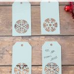 Handmade Snowflake Christmas Gift Tags + Free Template   Diy Gift Tags Free Printable