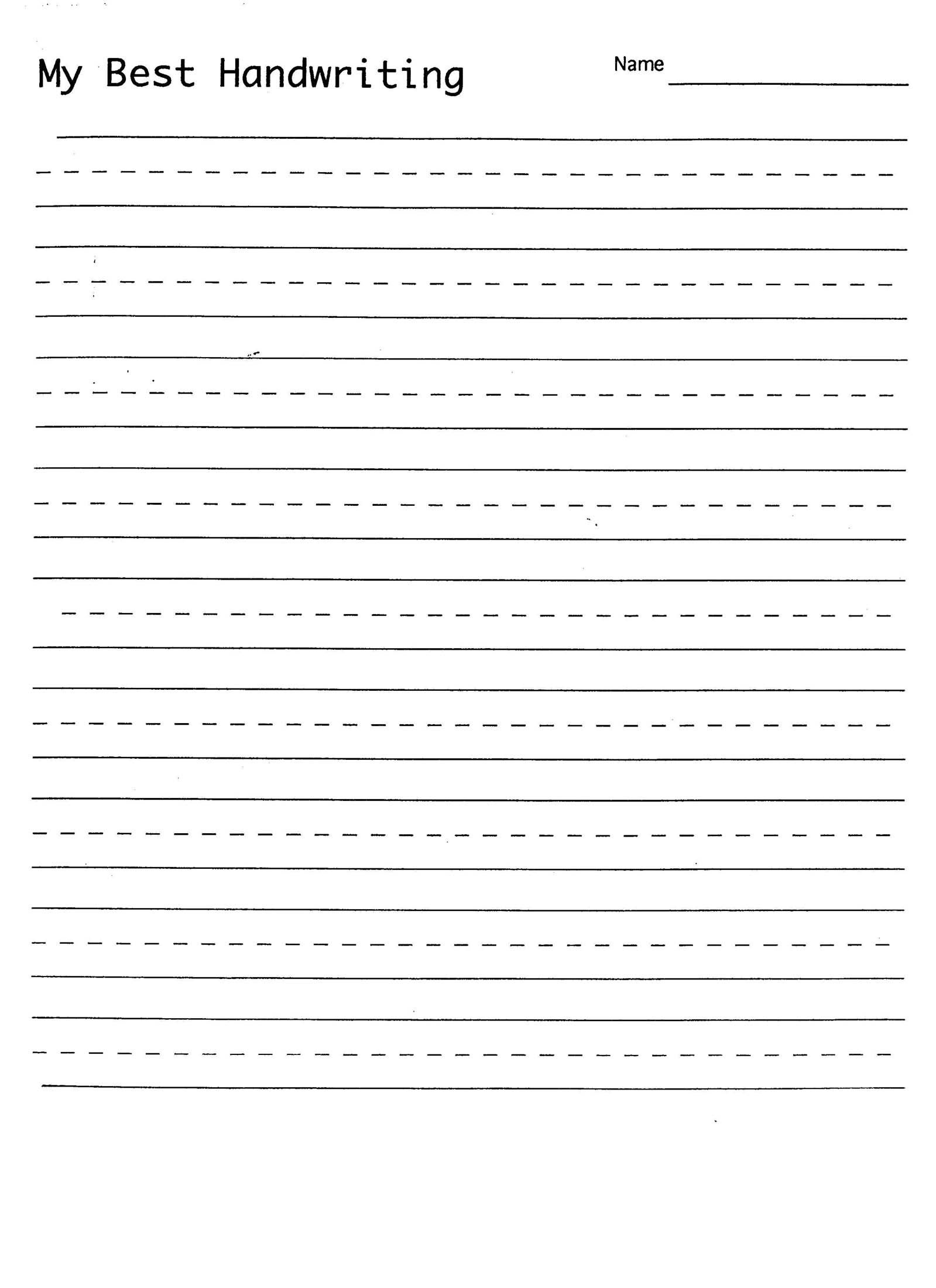 Handwriting Practice Sheet | 1St Grade Handwriting | Kindergarten - Free Printable Blank Handwriting Worksheets