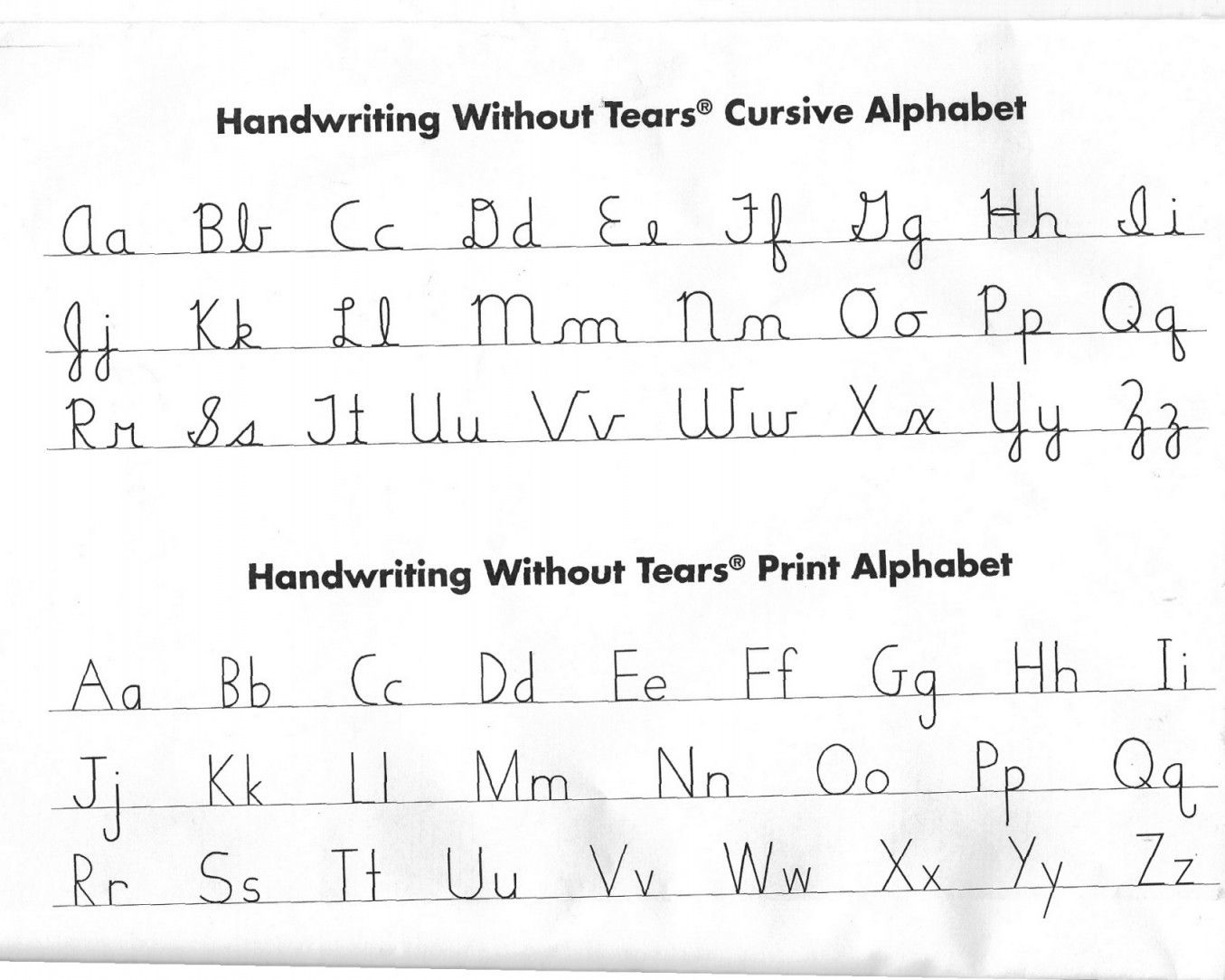 Handwriting Without Tears Worksheets | Lobo Black - Handwriting Without Tears Worksheets Free Printable