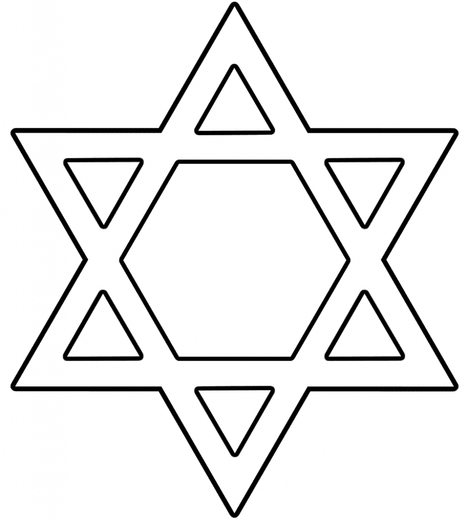Hanukkah Coloring Pages | Free Download Best Hanukkah Coloring Pages - Star Of David Template Free Printable