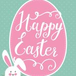 Happy Easter Bunny Printable | Holidays   Easter | Happy Easter   Free Printable Easter Greeting Cards